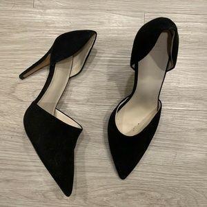 ZARA Basic Pointed Toe Heels Pumps D'orsay Black 8